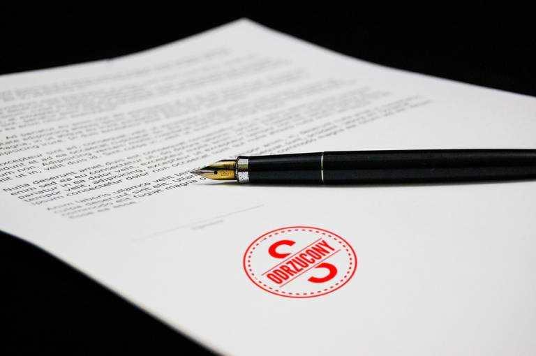 odrzucenie sprzeciwu od nakazu z powodu formularza, ktory został niewpłaściwie wypełniony