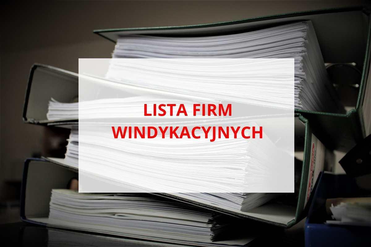 Lista firm windykacyjnych działających w Polsce