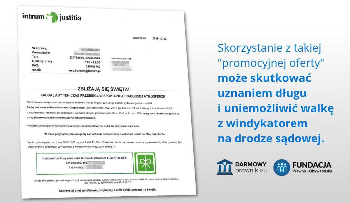 Podpisanie ugody z windykatorem skutkuje uznaniem długu i przegraną w ewentualnym procesie sądowym