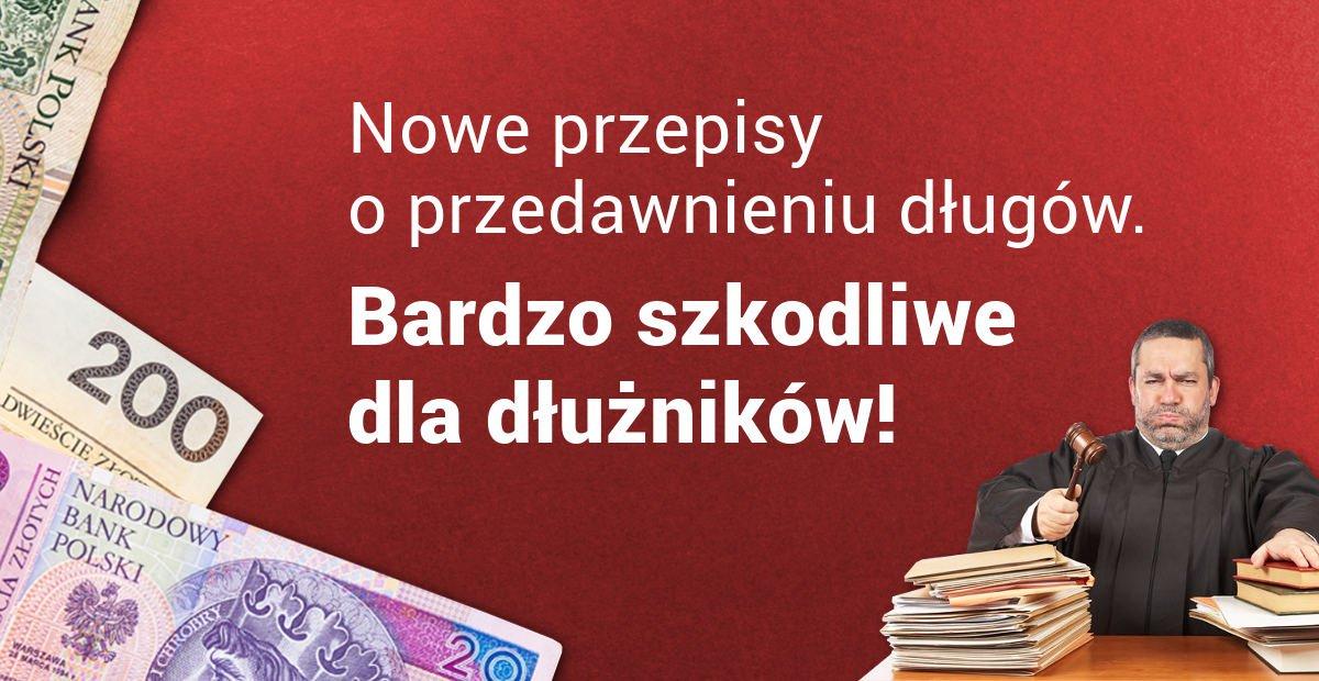 nowe przepisy o przedawnieniu długów