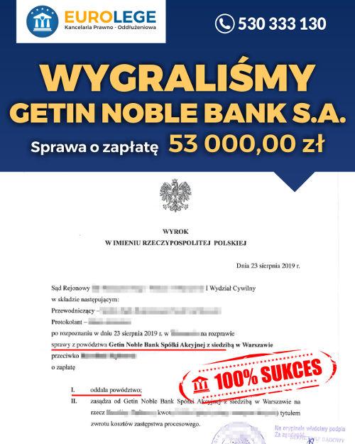 Jak wygrać sprawę sądową z Getin Noble Bank