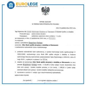 Wyrok sądu uchylenie bankowego tytułu egzekucyjnego BTE